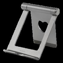 DELTACO stovas telefonams ir planšetėms, aliuminis, sidabrinis / ARM-274