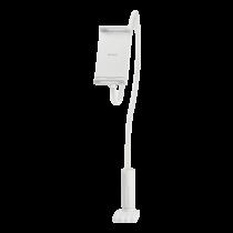 """DELTACO Telefonų / planšečių laikiklis, lankstus  4 """"ir 10.6"""", baltas ARM-276"""