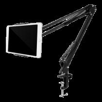 """DELTACO stovas telefonams ir planšetiniams kompiuteriams 4 """"-12,9"""", spaustukas, 360 °, juodas / ARM-278"""