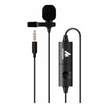 MAONO AU-100, tie microphone, omnidirectional, for DSLR cameras and smartphones, black
