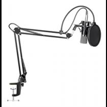 Mikrofono rinkinys MAONO mikrofonas, šerdis16mm, juodas / AU-A03