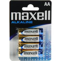 Baterijos Maxell AA (LR06), šarminis, 1,5V, 4 vnt /  BAT-522