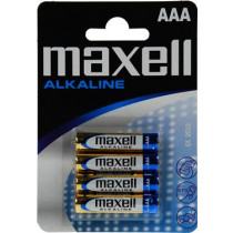 Baterijos Maxell AAA (LR03), šarminės, 1,5V, 4vnt / BAT-523