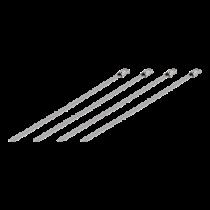 DELTACO Kabelio tvarkymo juostelė, nerudyjančio plieno, 150mm, 20-vnt iki 65kg / BB-225