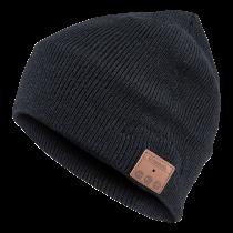 GADGETMONSTER  kepurė su BT ausinėmis juoda megzta GDM-1014
