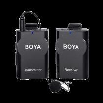 Bevielė sistema su mikrofonu BOYA 2.4 GHz, juoda / BY-WM4 / BOYA10016