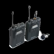 Bevielė UHF mikrofonų sistema BOYA 48 UHF kanalai, juoda / BY-WM6 / BOYA10018