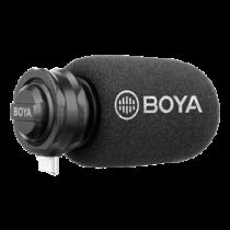 USB-C digital stereo microphone, cardioid, black / gray BOYA BY-DM100 / BOYA10077