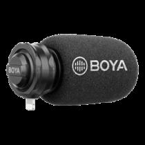 Lightning skaitmeninis stereo mikrofonas, kardioidas, pilka / juoda BOYA BY-DM200 / BOYA10078