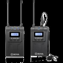 Vieno kanalo belaidis mikrofonas, 48 kanalai, 6 valandų baterija BOYA juoda / BOYA10079