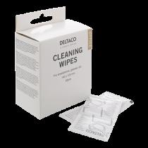 Valymo servetėlės išmaniąjam telefonui DELTACO 140x120mm, 1 pakuotė - 52 servetėlės, baltos / CK1028