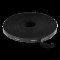 Kabelio ir kilpų tvirtinimo detalės, plotis 9mm, 10m, juodas DELTACO / CM1010S