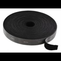 Kabelio ir kilpų tvirtinimo detalės, plotis 20mm, 5m, DELTACO juodas / CM2005S
