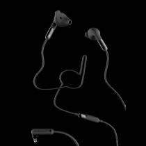 Ausinės DeFunc HYBRID į ausis, su mikrofonu , juodos / D0041