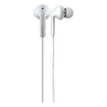 Ausinės DeFunc Go MUSIC į ausis, su mikofonu, baltos / D0132