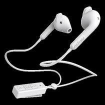 Ausinės DeFunc BT HYBRID, į ausis, su mikrofonu, baltos / D0242