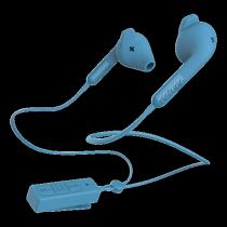 Ausinės DeFunc BT HYBRID su mikrofonu, mėlynos / D0244