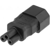 DELTACO Adapteris, IEC 60320 C14 į IEC 60320 C5, 250V / 2.5A, juodas DEL-1011
