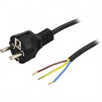 DELTACO grounded cable, CEE 7/7 , max 250V / 10A, 2m, black DEL-109R