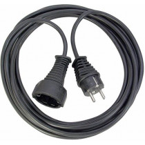 Brennenstuhl earthed extension cable straight CEE 7/7 to straight CEE 7/4 (Schuko), 2m , black 1165010015 /  DEL-118F