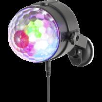 NGS Spectra Rave Party prožektorius su 3 LEDs , 18W, RGB, Mužikos rėžimas, sukiojamas, juodas / DEL2024973