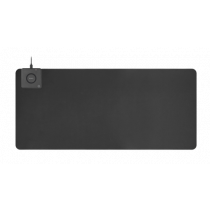 DELTACO Business ypač platus pelės kilimėlis su greitu belaidžiu įkrovikliu, 90x40 cm, juodas DELC-0100