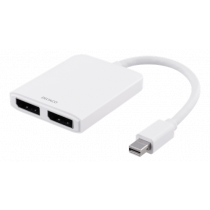 Adapteris DELTACO Mini DP to DisplayPort 5.4Gbps, baltas / DP-905