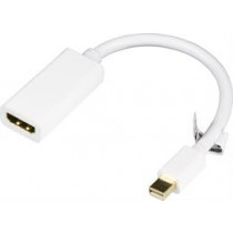 Adapteris DELTACO mini DisplayPort - HDMI, 0.2 m, baltas / DP-HDMI14-K