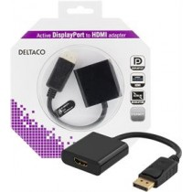 Adapteris DELTACO DisplayPort - HDMI, 0,