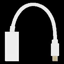 Adapteris DELTACO Mini DP to HDMI, 4K 60Hz, 0.2m, baltas / DP-HDMI46