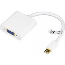 Adapteris DELTACO DisplayPort to VGA adapter, 0.2m, white  DP-VGA4