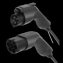 Elektromobilio įkrovimo kabelis DELTACO Type 2 - Type 1, 1 fazės, 16A, 3,6 kW, 3 m, juodas / EV-1103