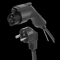 Elektromobilio įkrovimo kabelis DELTACO Schuko - Type 1, 1 fazės, 3,6KW, 5m, juodas / EV-1125