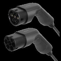 Elektromobilio įkrovimo kabelis DELTACO Type 2 - Type 2, 1 fazės, 16A, 3,6 kW, 7 m, juodas / EV-1207