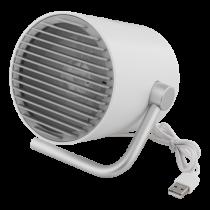 USB ventiliatorius DELTACO dviejų greičių, 1m USB cable, baltas / FT-741