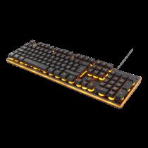 DELTACO GAMING klaviatūra, 105 klavišai, diafragmos jungiklis, oranžinė LED pašvietimas, USB, juoda / oranžinė / GAM-021UK