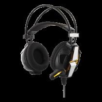 DELTACO GAMING ausinės su Vibracija, LED šviesomis, 2.1m, juodos / GAM-025