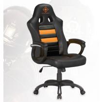Žaidimų kėdė Racer, PU oda, aukštis reguliuojamas, juoda / oranžinė DELTACO GAMING / GAM-050