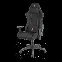 DELTACO GAMING Gaming neiloninė kėdė, kaklo, nugaros pagalvė, juoda / oranžinė GAM-051-B