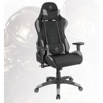 Žaidimų kėdė nailono kaklo pagalvės, nugaros pagalvėlė, juodos/ pilkos spalvos DELTACO GAMING / GAM-051
