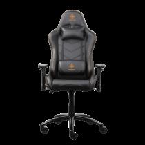 Žaidimų kėdė PU oda, kaklo pagalvė, nugaros pagalvėlė, juoda / oranžinė DELTACO GAMING / GAM-052