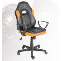 Žaidimų kėdė, PU oda, reguliuojamas aukštis, juoda / oranžinė DELTACO GAMING / GAM-053