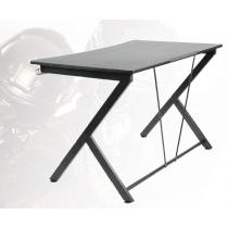 Žaidimų stalas, metalinės kojos, PVC  paviršius, įmontuotas laikiklis ausinėms, juodas DELTACO GAMING / GAM-055