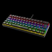 Klaviatūra DELTACO GAMING mini mechaninė, UK, RGB, juoda / GAM-075-UK