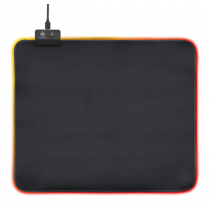 Pelės kilimėlis DELTACO GAMING 6xRGB režimai, 7xstatiniai režimai, 320x270x4mm, juodas / GAM-077