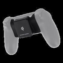 DELTACO GAMING QI adapteris PS4 pulteliui (bevieliam krovimui), Qi sertifikuotas, juodas GAM-082