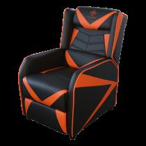 """""""DELTACO GAMING"""" fotelis, PU oda, atlošas, 49 cm pločio sėdynės pagalvėlė, juoda / oranžinė GAM-087"""