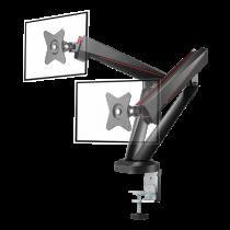 "Monitoriaus laikiklis DELTACO GAMING dvigubas, 17""-32"" ekranams, VESA 75x75 / 100x100, juodas / GAM-102"