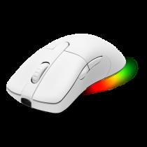 Pelė DELTACO GAMING WHITE LINE belaidė, 16.000 DPI, RGB, USB-C/USB-A, balta / GAM-107-W