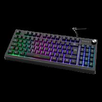 """Membraninė žaidimų klaviatūra """"DELTACO GAMING DK230 TKL"""", JK išdėstymas, juoda"""